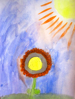 St. Peter's Arts Flower Sun Painting